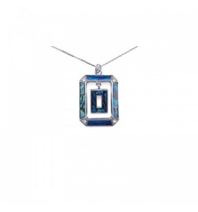 Pendentif Abalone Rectangle